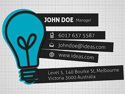 Creative business cards 01-PSD layered materials