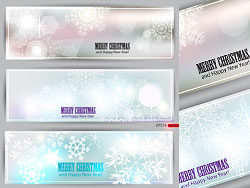 Beautiful Christmas snowflake banner-vector material