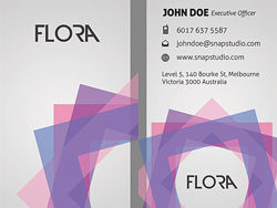 Elegant business card templates 02-PSD layered materials