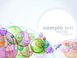 Colorful bubbles background 03-vector material